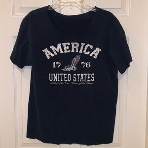 Distressed America shirt large